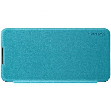 Тонкий Флип NILLKIN Sparkle Горизонтальный Боковой Чехол Книжка для Xiaomi Mi 9 Lite Бирюзовый