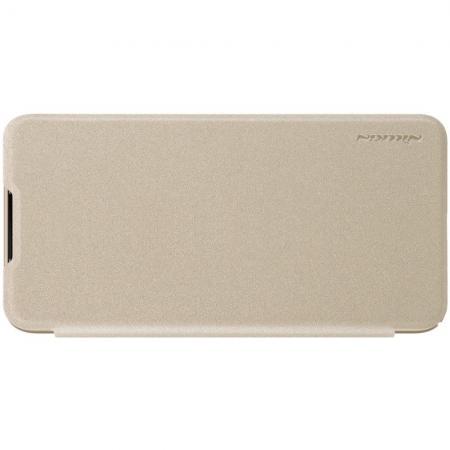 Тонкий Флип NILLKIN Sparkle Горизонтальный Боковой Чехол Книжка для Xiaomi Mi 9 Lite Золотой