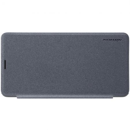 Тонкий Флип NILLKIN Sparkle Горизонтальный Боковой Чехол Книжка для Xiaomi Mi Max 3 Серый