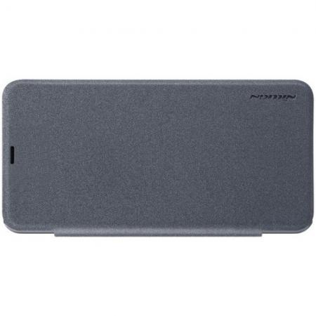 Тонкий Флип NILLKIN Sparkle Горизонтальный Боковой Чехол Книжка для Xiaomi Pocophone F1 Серый
