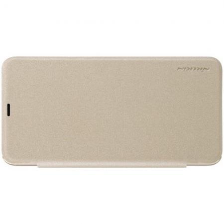 Тонкий Флип NILLKIN Sparkle Горизонтальный Боковой Чехол Книжка для Xiaomi Pocophone F1 Золотой