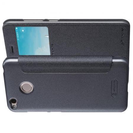Тонкий Флип NILLKIN Sparkle Горизонтальный Боковой Чехол Книжка для Xiaomi Redmi 4X Серый
