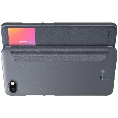 Тонкий Флип NILLKIN Sparkle Горизонтальный Боковой Чехол Книжка для Xiaomi Redmi 6A Серый