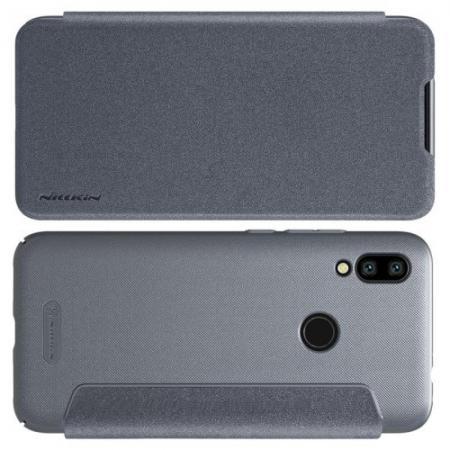 Тонкий Флип NILLKIN Sparkle Горизонтальный Боковой Чехол Книжка для Xiaomi Redmi 7 Серый