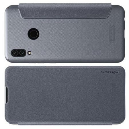 Тонкий Флип NILLKIN Sparkle Горизонтальный Боковой Чехол Книжка для Xiaomi Redmi Note 7 / Note 7 Pro Серый