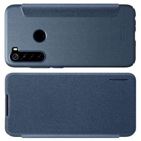 Тонкий Флип NILLKIN Sparkle Горизонтальный Боковой Чехол Книжка для Xiaomi Redmi Note 8 Серый