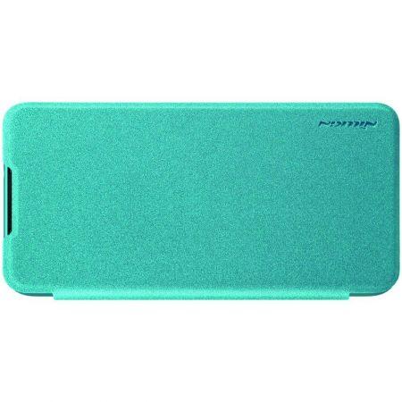 Тонкий Флип NILLKIN Sparkle Горизонтальный Боковой Чехол Книжка для Xiaomi Redmi Note 8 Синий