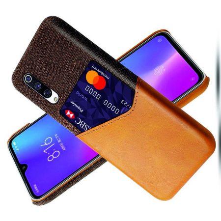 Тонкий Пластиковый PU Кожаный Чехол с Карманом для Карты для Xiaomi Mi 9 Lite Оранжевый