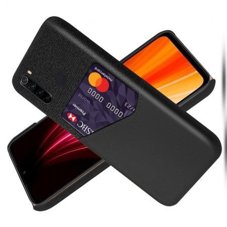 Тонкий Пластиковый PU Кожаный Чехол с Карманом для Карты для Xiaomi Redmi Note 8 Черный