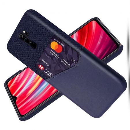 Тонкий Пластиковый PU Кожаный Чехол с Карманом для Карты для Xiaomi Redmi Note 8 Pro Красный