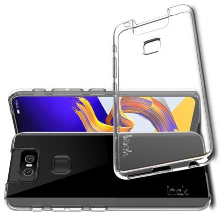 Тонкий TPU Бампер Силиконовый Чехол для Asus Zenfone 6 ZS630KL Прозрачный