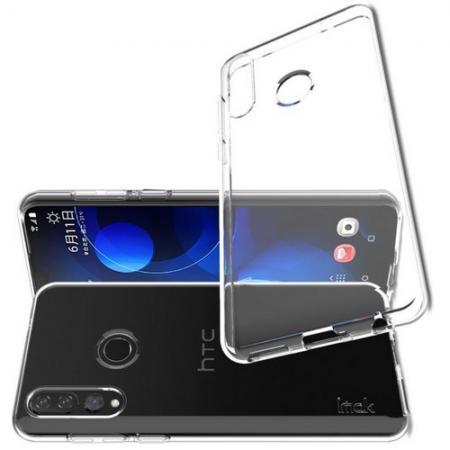 Тонкий TPU Бампер Силиконовый Чехол для HTC Desire 19 Plus Прозрачный