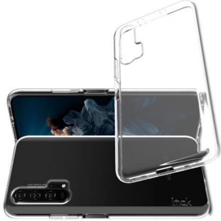 Тонкий TPU Бампер Силиконовый Чехол для Huawei Honor 20 Pro Прозрачный