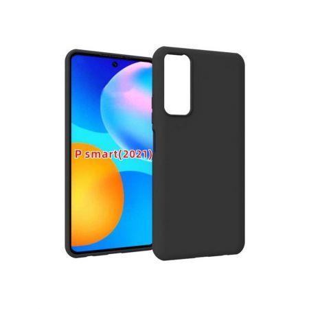Тонкий TPU Бампер Силиконовый Чехол для Huawei P Smart 2021 Черный