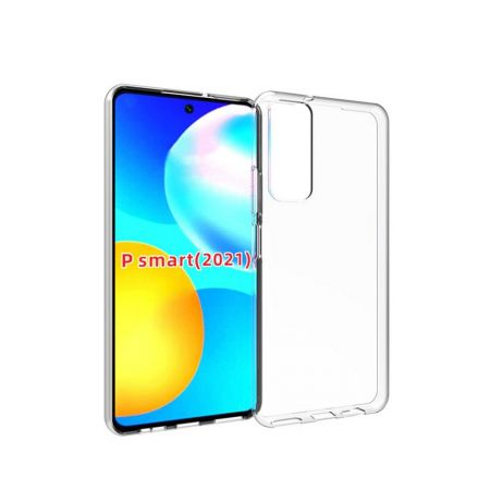 Тонкий TPU Бампер Силиконовый Чехол для Huawei P Smart 2021 Прозрачный