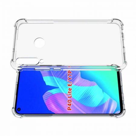 Тонкий TPU Бампер Силиконовый Чехол для Huawei P40 lite E Прозрачный
