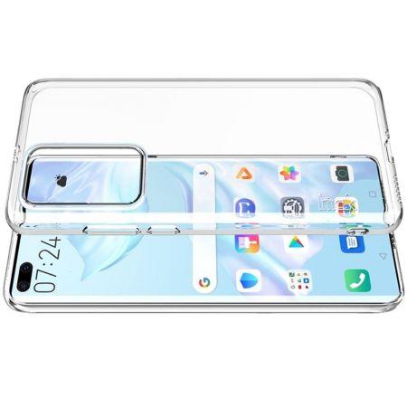Тонкий TPU Бампер Силиконовый Чехол для Huawei P40 Pro Прозрачный