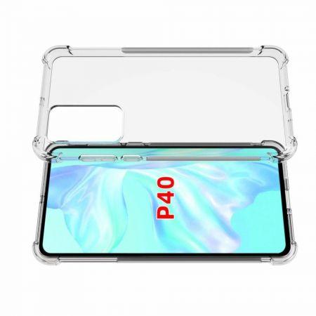 Тонкий TPU Бампер Силиконовый Чехол для Huawei P40 Прозрачный