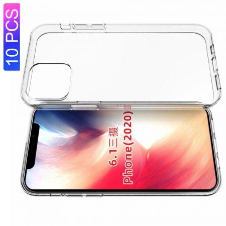 Тонкий TPU Бампер Силиконовый Чехол для iPhone 12 Pro 6.1 / Max 6.1 Прозрачный