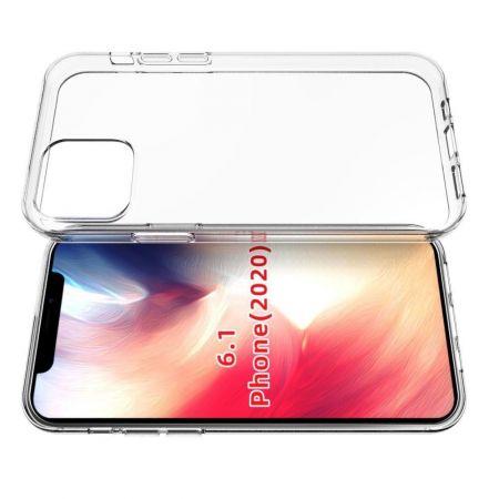 Тонкий TPU Бампер Силиконовый Чехол для iPhone 12 Pro 6.1 Прозрачный