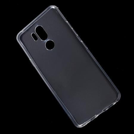 Тонкий TPU Бампер Силиконовый Чехол для LG G7 ThinQ Прозрачный