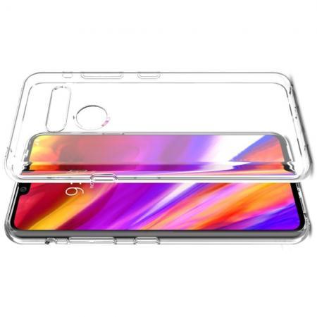 Тонкий TPU Бампер Силиконовый Чехол для LG G8 ThinQ Прозрачный