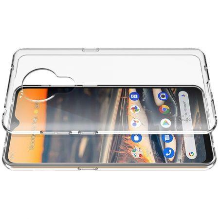 Тонкий TPU Бампер Силиконовый Чехол для Nokia 5.3 Прозрачный