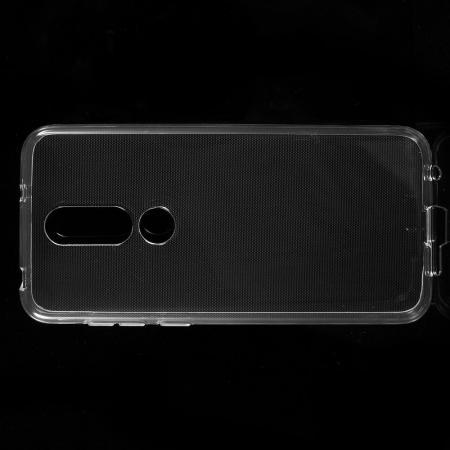 Тонкий TPU Бампер Силиконовый Чехол для Nokia 6.1 Plus Прозрачный