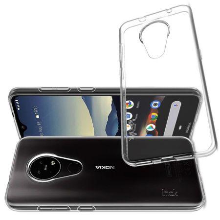 Тонкий TPU Бампер Силиконовый Чехол для Nokia 6.2 Прозрачный