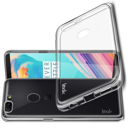 Тонкий TPU Бампер Силиконовый Чехол для OnePlus 5T Прозрачный