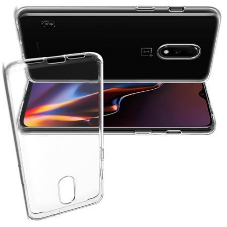 Тонкий TPU Бампер Силиконовый Чехол для OnePlus 7 Прозрачный