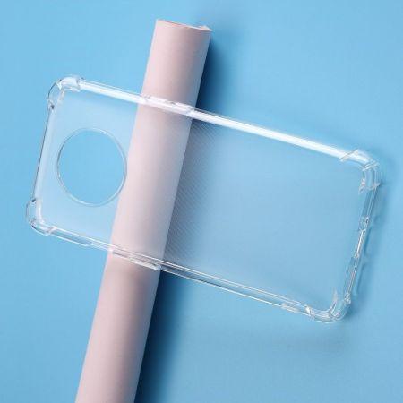 Тонкий TPU Бампер Силиконовый Чехол для OnePlus 7T Прозрачный
