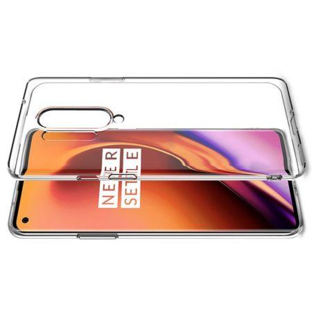 Тонкий TPU Бампер Силиконовый Чехол для OnePlus 8 Pro Прозрачный