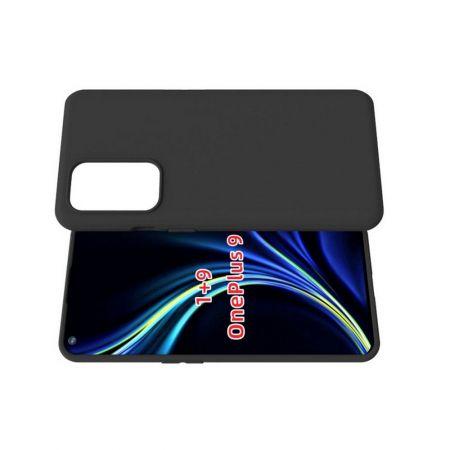 Тонкий TPU Бампер Силиконовый Чехол для OnePlus 9 Черный