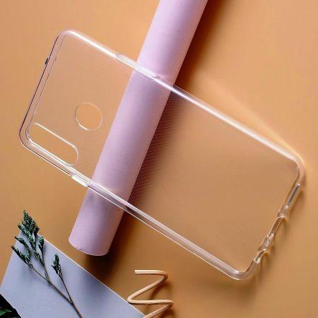 Тонкий TPU Бампер Силиконовый Чехол для Samsung Galaxy A20s Прозрачный