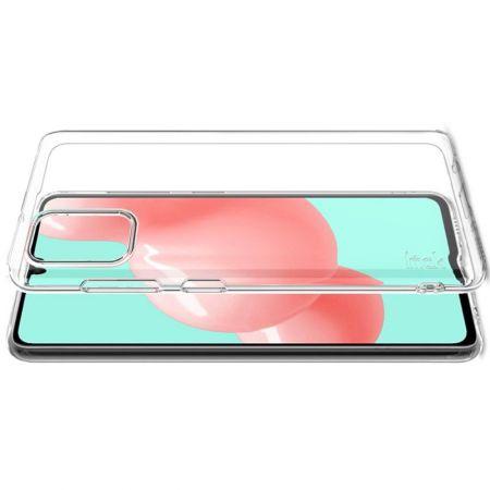 Тонкий TPU Бампер Силиконовый Чехол для Samsung Galaxy A41 Прозрачный