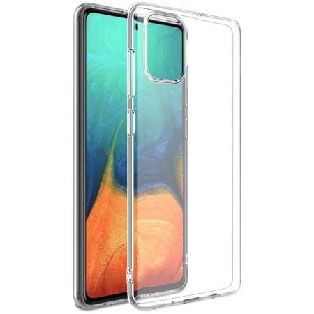 Тонкий TPU Бампер Силиконовый Чехол для Samsung Galaxy A71 Прозрачный