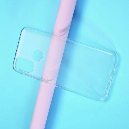 Тонкий TPU Бампер Силиконовый Чехол для Samsung Galaxy M30s Прозрачный