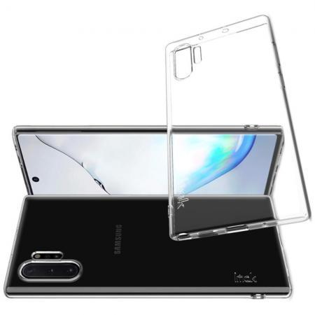 Тонкий TPU Бампер Силиконовый Чехол для Samsung Galaxy Note 10 Plus Прозрачный