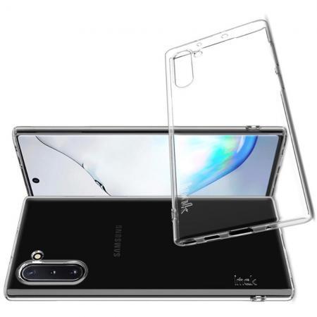 Тонкий TPU Бампер Силиконовый Чехол для Samsung Galaxy Note 10 Прозрачный