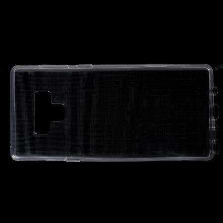 Тонкий TPU Бампер Силиконовый Чехол для Samsung Galaxy Note 9 Прозрачный