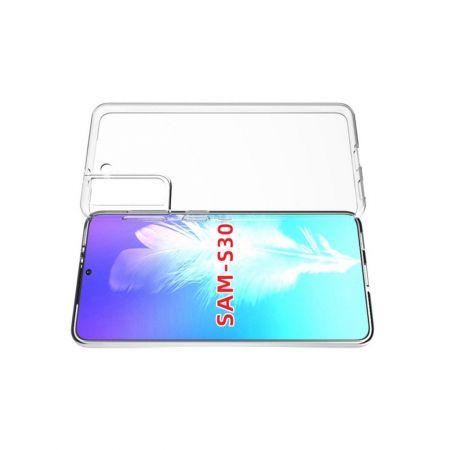 Тонкий TPU Бампер Силиконовый Чехол для Samsung Galaxy S21 Прозрачный