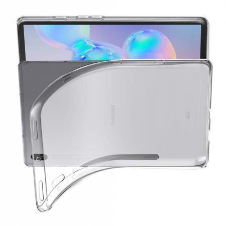 Тонкий TPU Бампер Силиконовый Чехол для Samsung Galaxy Tab S6 SM-T865 SM-T860 Прозрачный