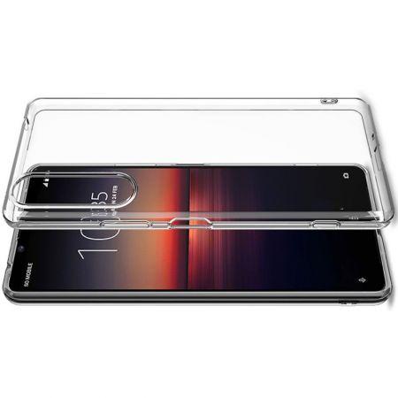 Тонкий TPU Бампер Силиконовый Чехол для Sony Xperia 1 II Прозрачный