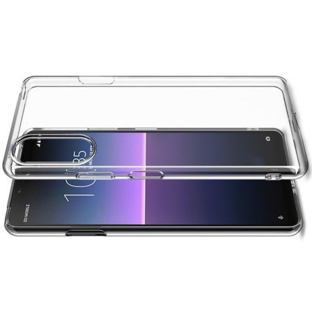 Тонкий TPU Бампер Силиконовый Чехол для Sony Xperia 10 II Прозрачный