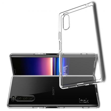 Тонкий TPU Бампер Силиконовый Чехол для Sony Xperia 2 Прозрачный