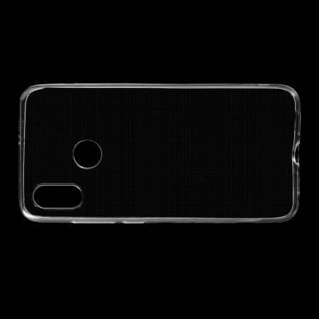 Тонкий TPU Бампер Силиконовый Чехол для Xiaomi Mi 8 Прозрачный