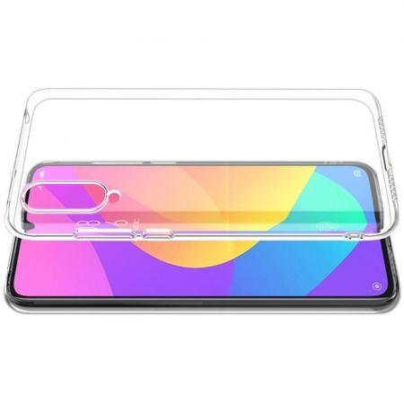 Тонкий TPU Бампер Силиконовый Чехол для Xiaomi Mi CC9 Прозрачный