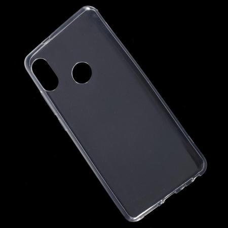 Тонкий TPU Бампер Силиконовый Чехол для Xiaomi Redmi Note 5 Pro Прозрачный