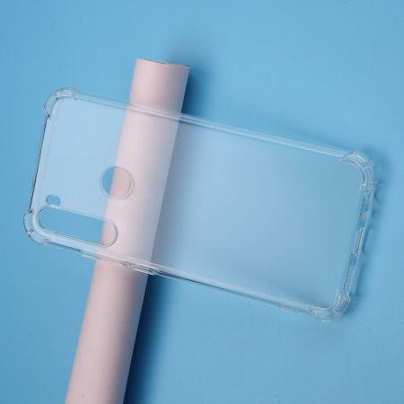 Тонкий TPU Бампер Силиконовый Чехол для Xiaomi Redmi Note 8T Прозрачный